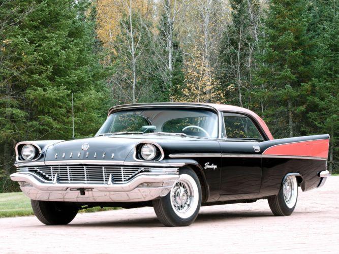 1957 Chrysler Saratoga Hardtop Coupe retro luxury d wallpaper
