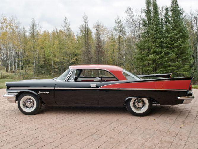 1957 Chrysler Saratoga Hardtop Coupe retro luxury wallpaper