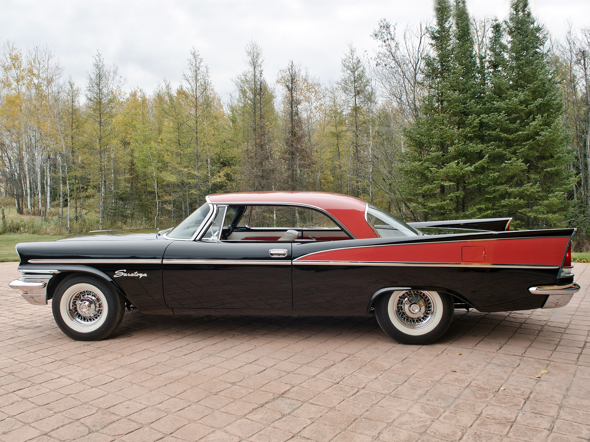 1957 Chrysler Saratoga Hardtop Coupe Retro Luxury