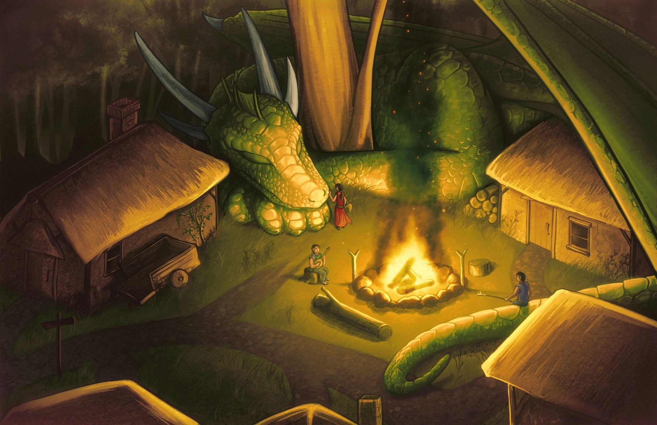 Картинки фэнтези подземелья и драконы