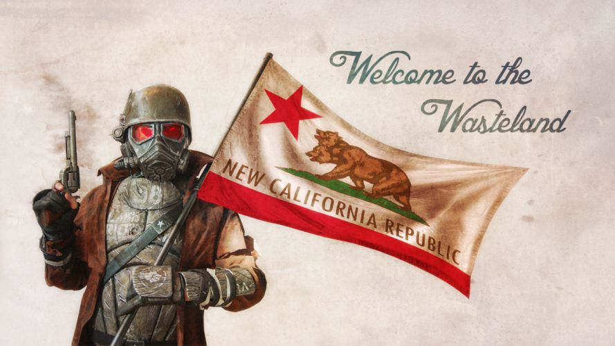 Fallout NCR Trooper gas mask sci-fi warrior wallpaper