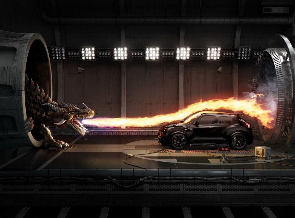 Fantasy Dragon Dragons Car Fire Wallpaper 1600x1184