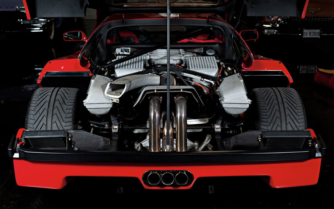 Attractive Ferrari F40 Engine Engines Supercar Supercars Wallpaper