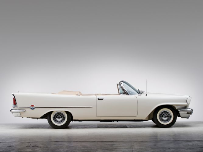 1958 Chrysler 300D Convertible luxury retro wallpaper