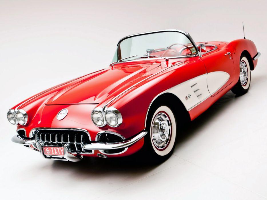 1960 Chevrolet Corvette C-1 retro supercar supercars muscle  f wallpaper