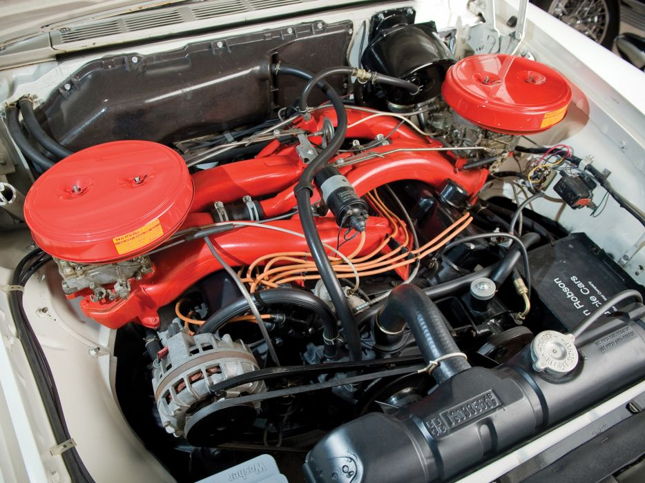 1960 Chrysler 300F Convertible retro engine engines    e wallpaper