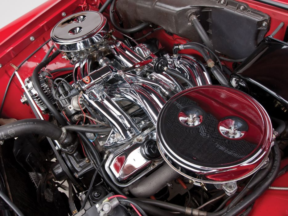 1961 Chrysler 300G Convertible luxury classic engine engines           d wallpaper