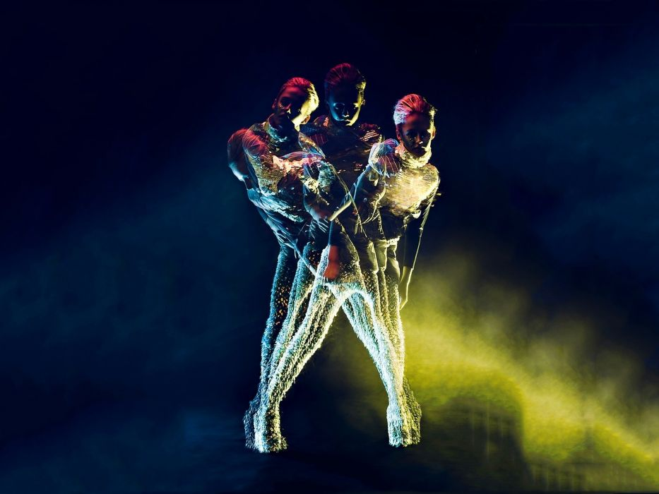 futuristic models fashion lighting fashion photography multiple exposure Abstract psychedelic wallpaper