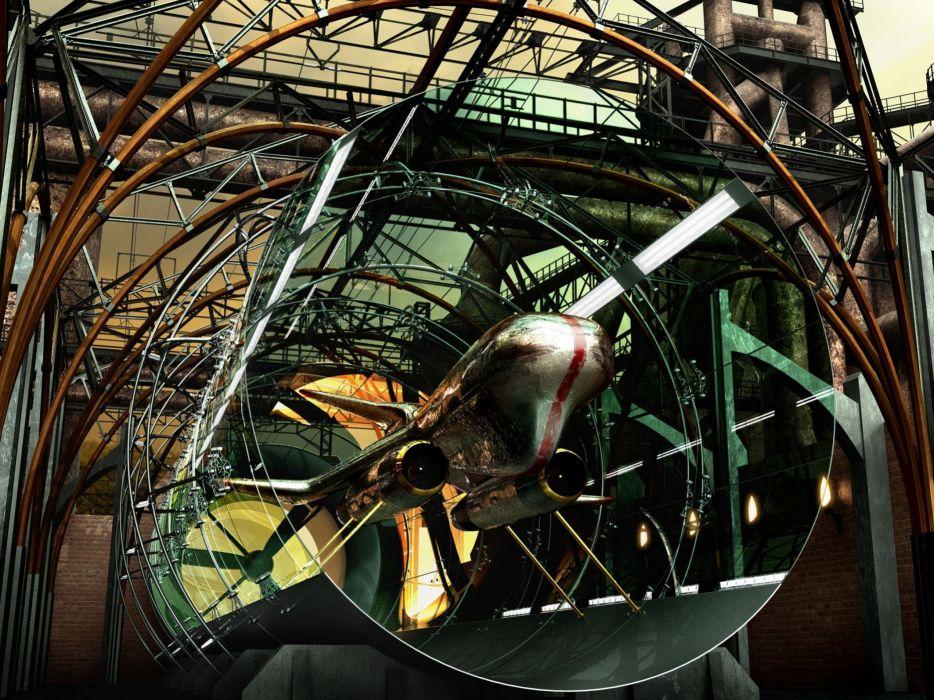 futuristic cgi vehicles anime airship 3d render art anime original sci-fi space ship ship wallpaper