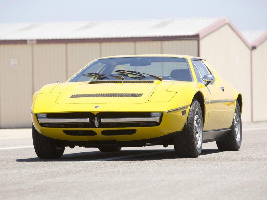 1973 Maserati Merak USA classic supercar supercars wallpaper