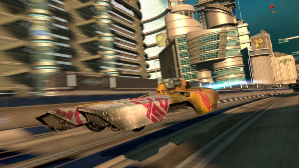 games futuristic wipeout science fiction wallpaper
