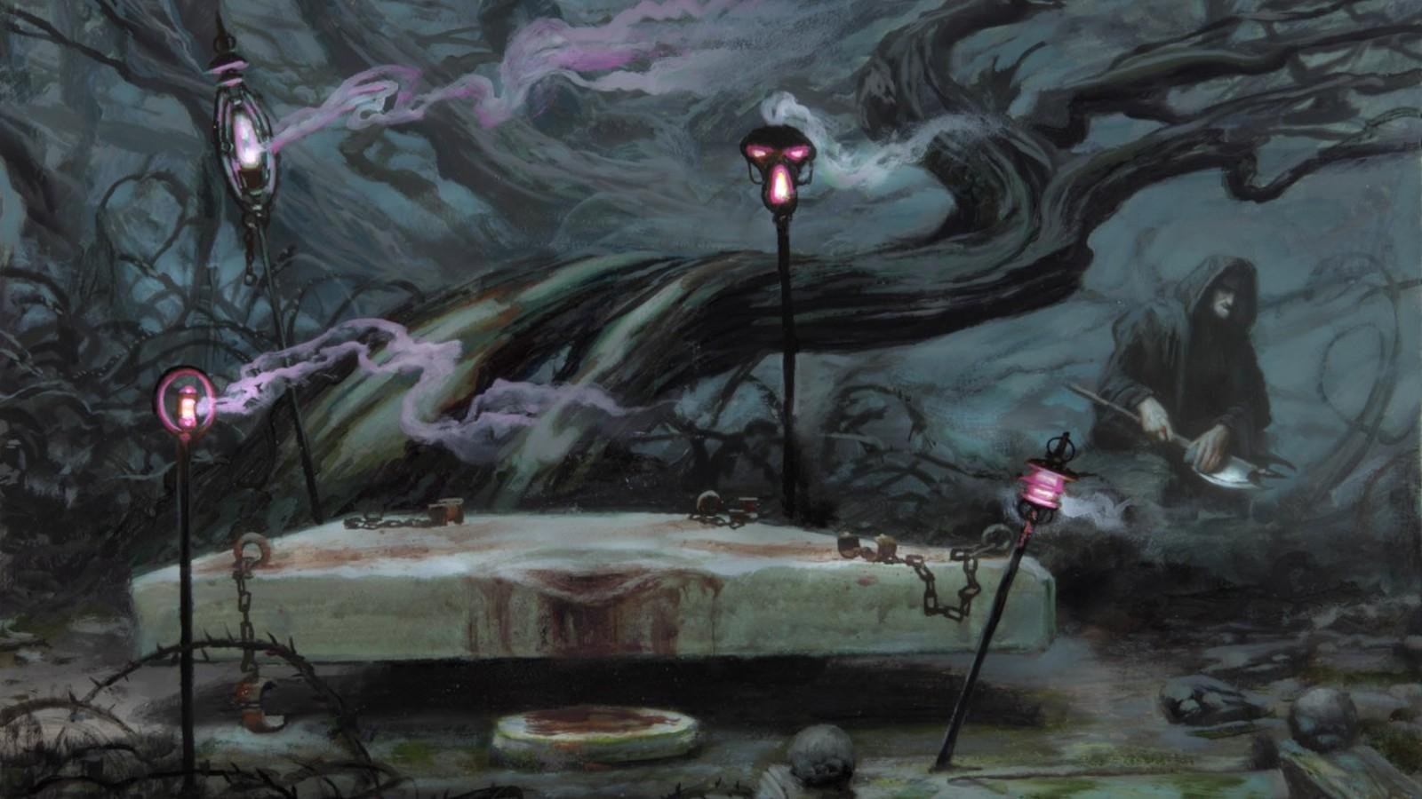 Download Floor Plans Gathering Fantasy Art Sacrifice Altar Donato Giancola Dark