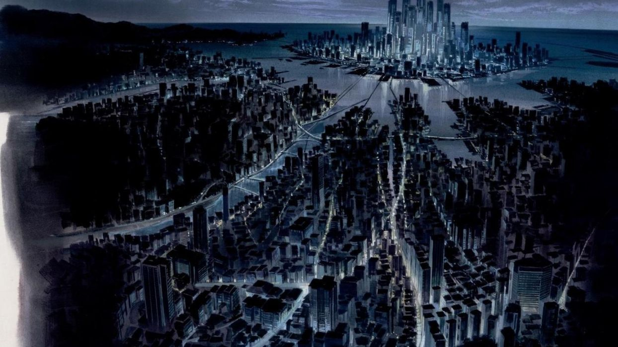 Ghost In The Shell Cityscapes Futuristic Citys Space Ships