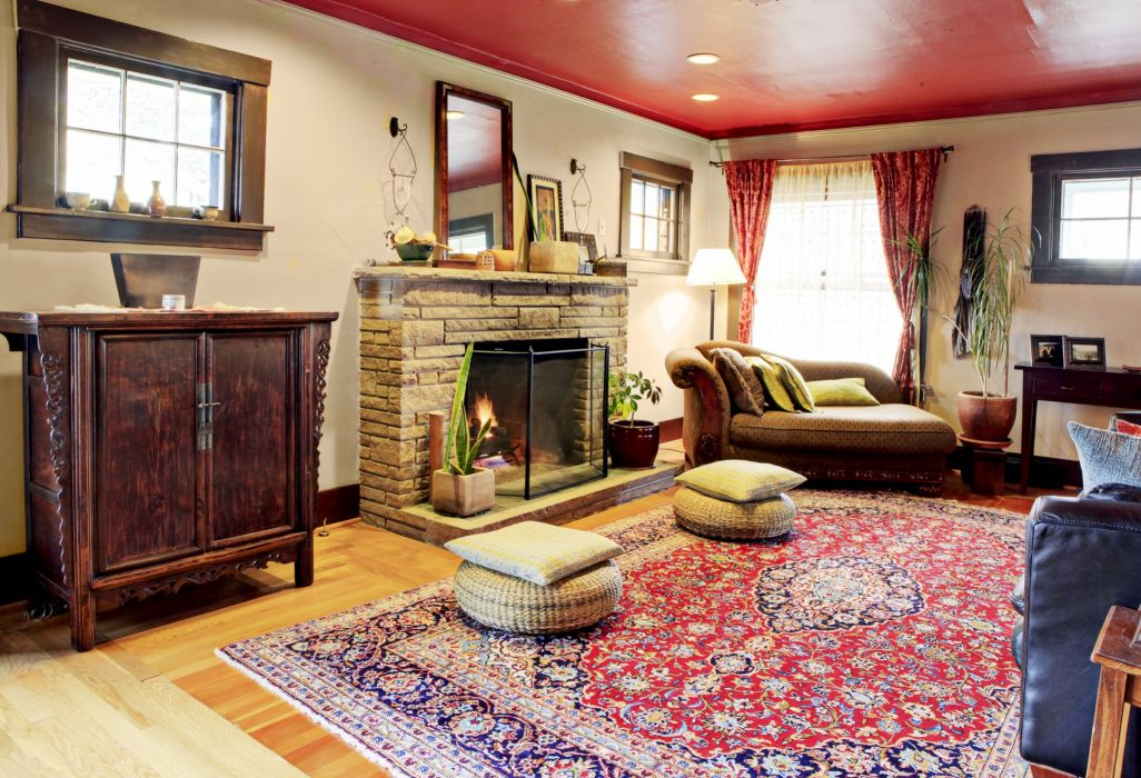 home style design villa living room interior wallpaper