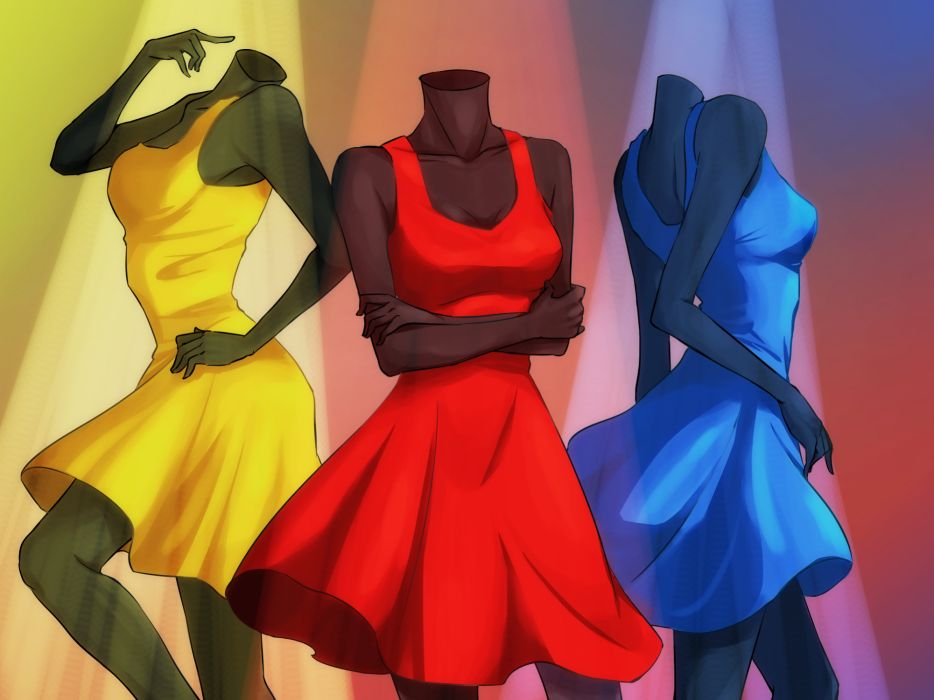 ib i-b ib-anime fashion color dress wallpaper