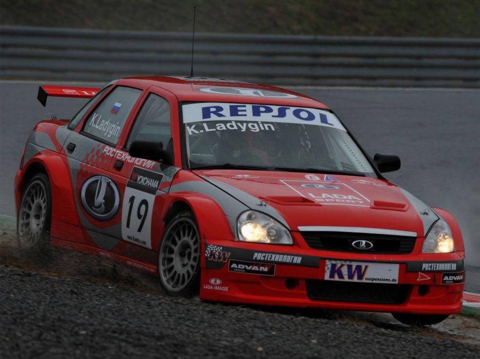 2009 Lada Priora WTCC race racing   d wallpaper