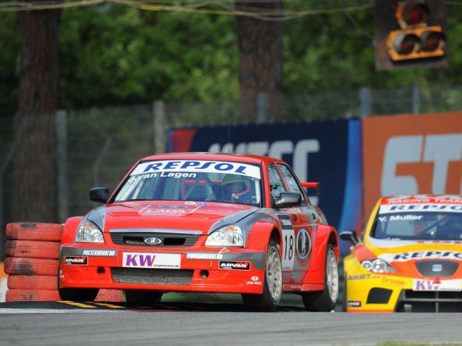 2009 Lada Priora WTCC race racing f wallpaper
