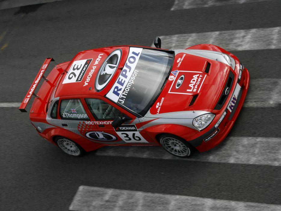 2009 Lada Priora WTCC race racing wallpaper