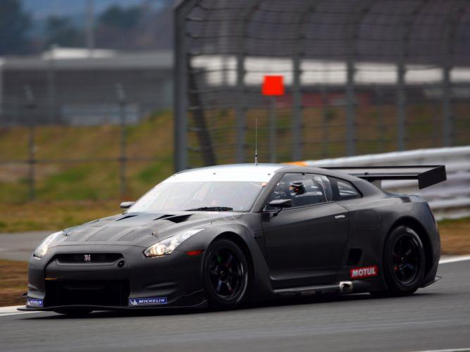 2009 Nissan GT-R FIA GT1 R35 race racing supercar supercars f wallpaper