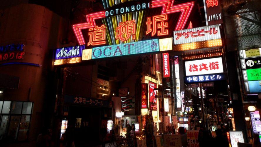 japan landscapes tokyo cityscapes architecture asia neon wallpaper
