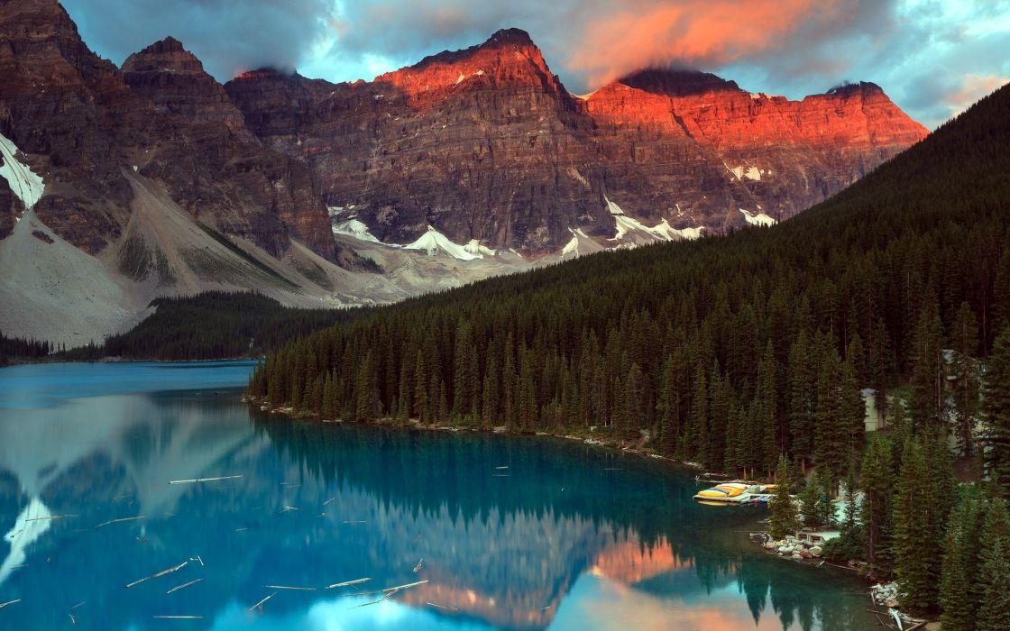 lake  mountain  landscape wallpaper
