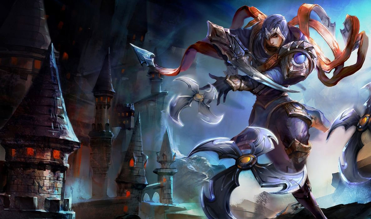 league of legends lol talon assassin swords armor belt castle tower