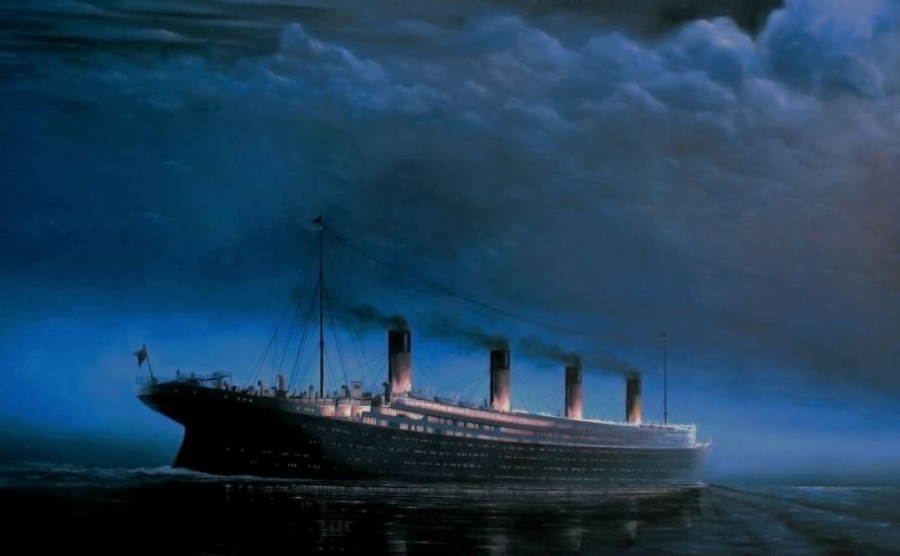liner Titanic ship wallpaper