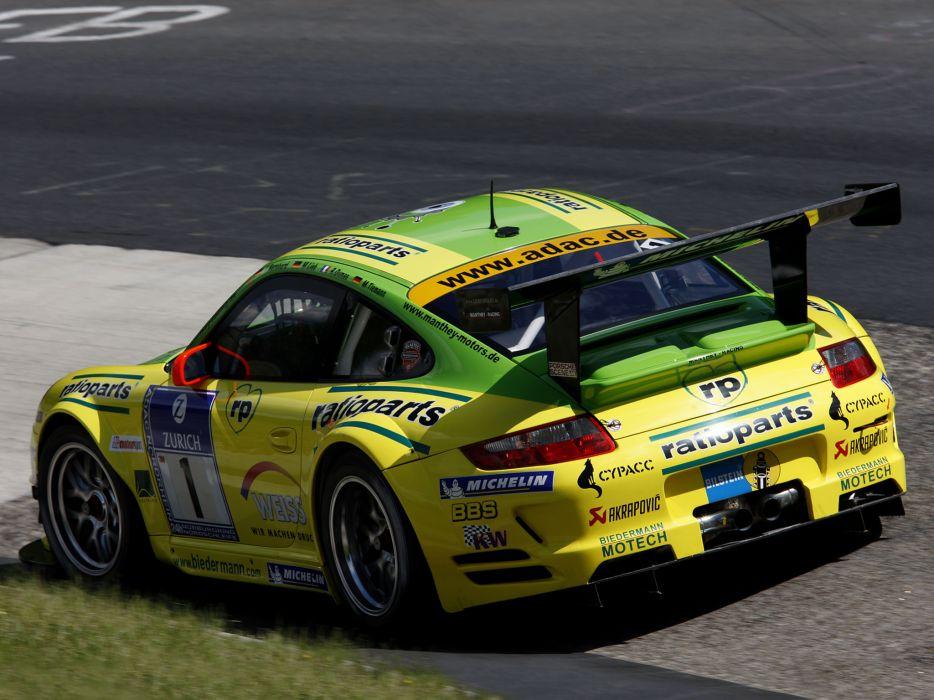 2009 Porsche 911 GT3 RSR 997 race racing   d wallpaper