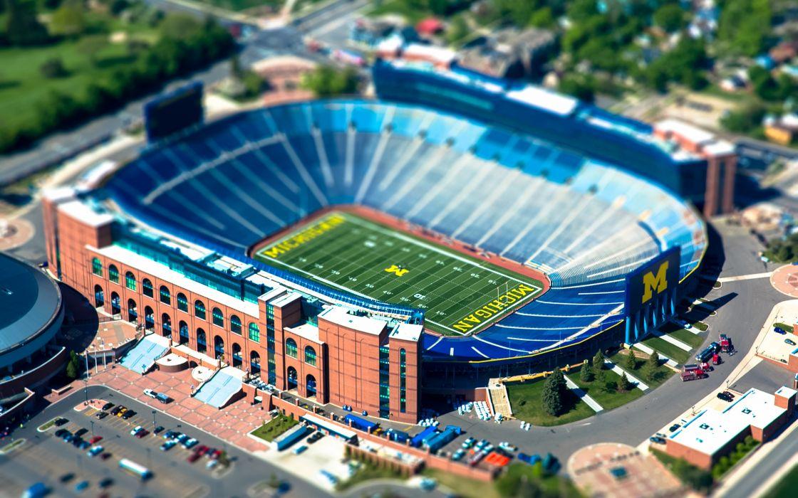 Michigan State University Stadium Tilt-Shift Football wallpaper