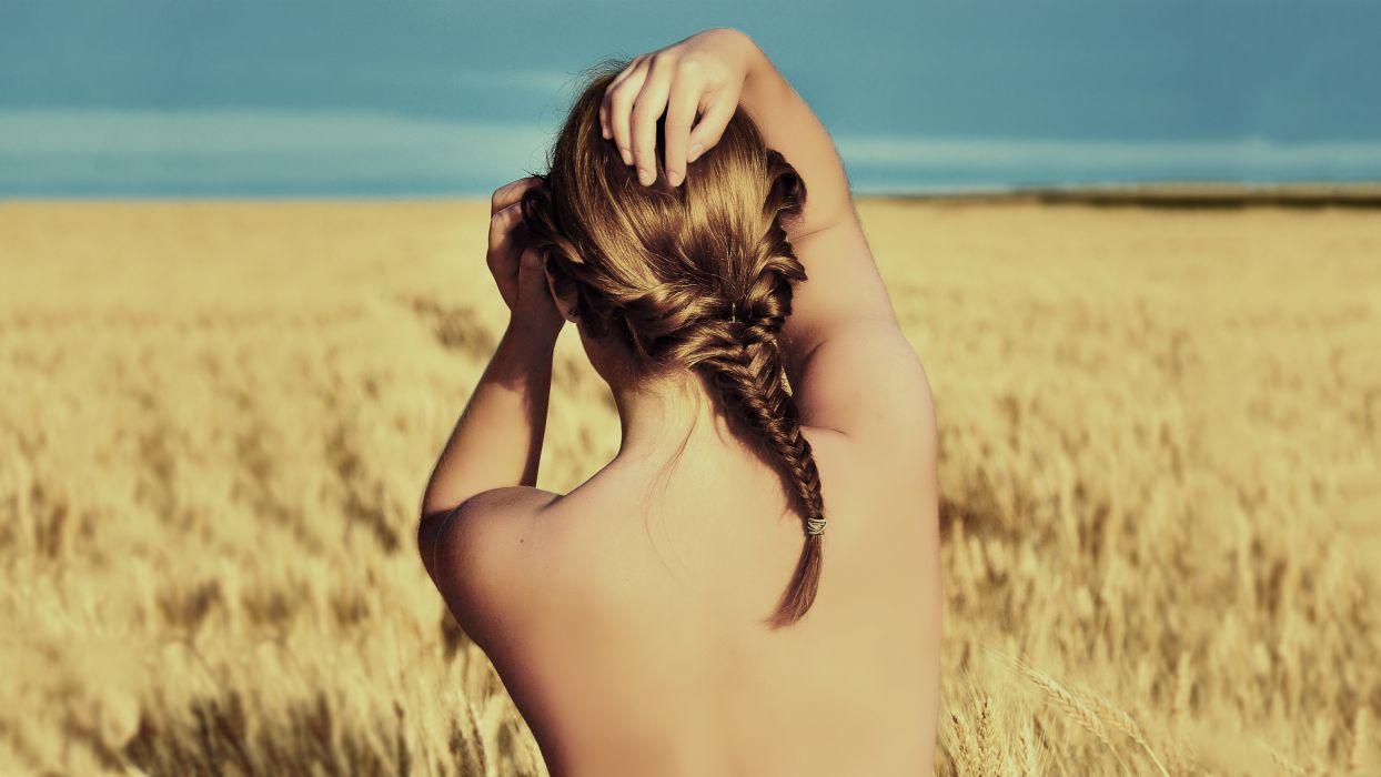 mood women brunette wheat mood wallpaper