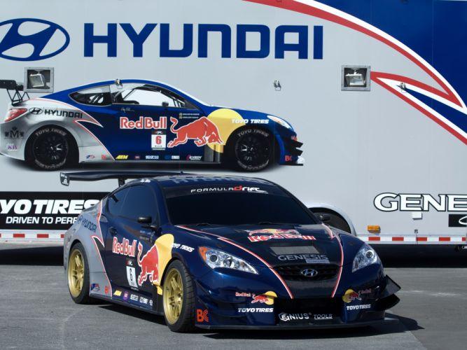 2009 RMR Red Bull Hyundai Genesis Coupe drift tuning race racing da wallpaper