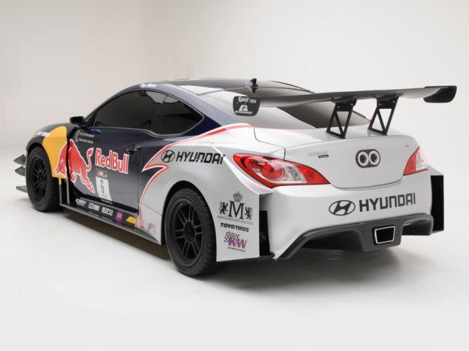 2009 RMR Red Bull Hyundai Genesis Coupe drift tuning race racing f wallpaper