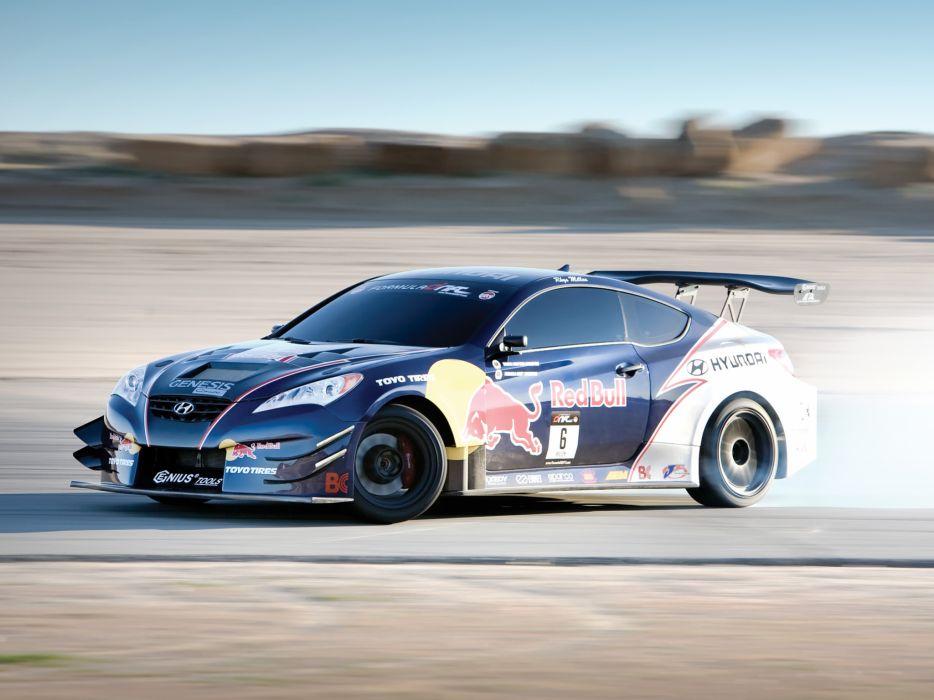 2009 RMR Red Bull Hyundai Genesis Coupe drift tuning race racing   d wallpaper