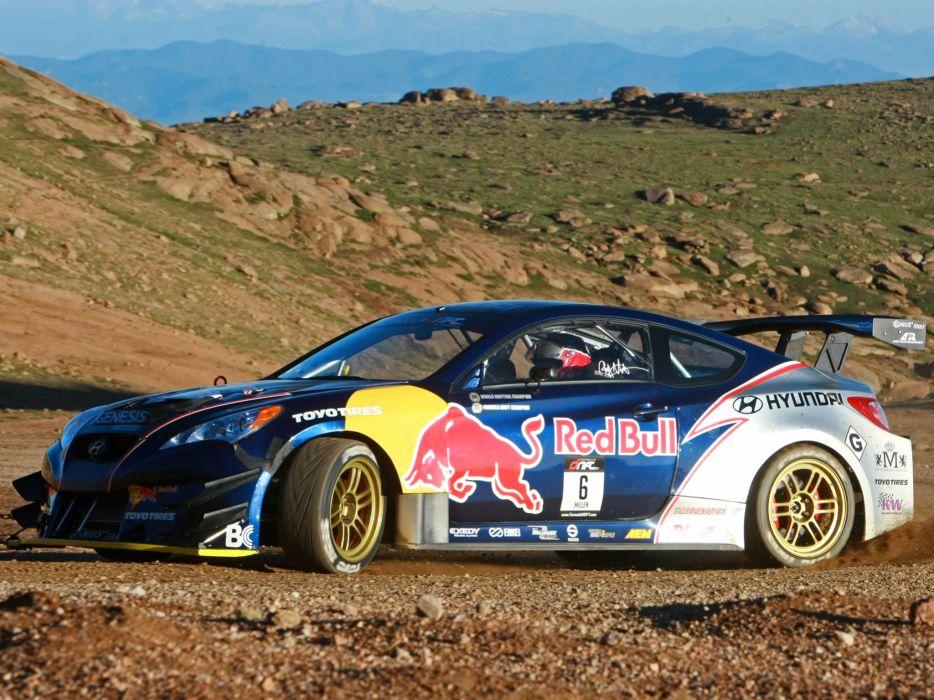 2009 RMR Red Bull Hyundai Genesis Coupe drift tuning race racing  w wallpaper
