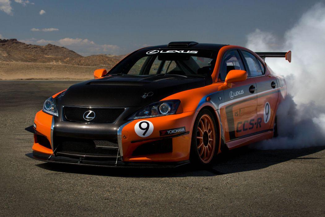 2013 Lexus IS-F CCS-R Pikes Peak race racing tuning burnout smoke wallpaper