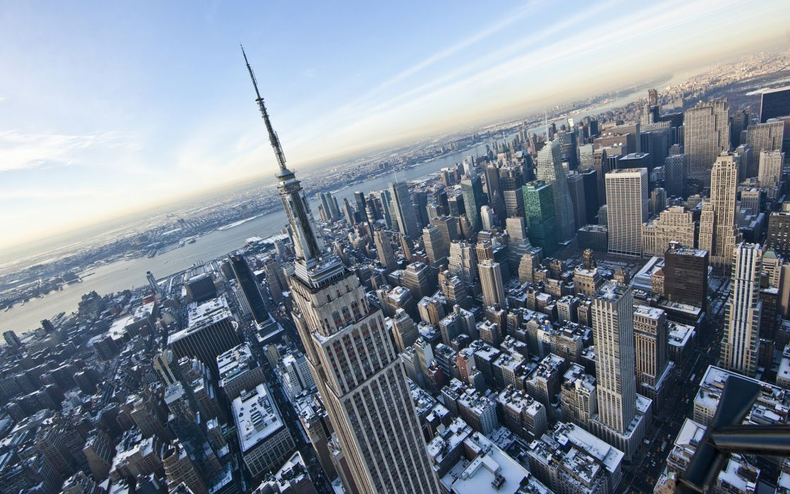 New York Buildings Skyscrapers Winter wallpaper ...