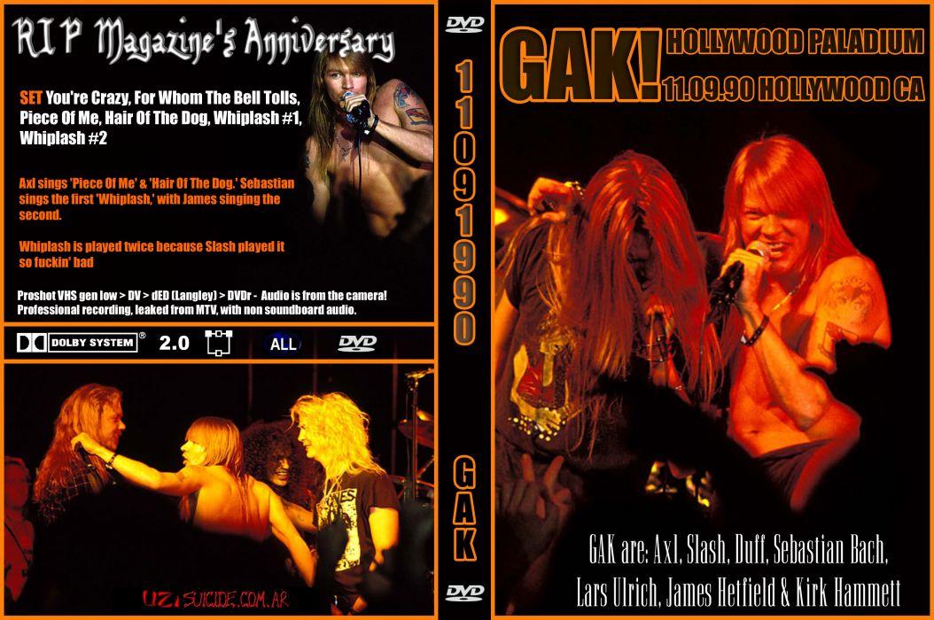 METALLICA thrash heavy metal skid row gnr guns roses concert concerts poster posters 3 wallpaper