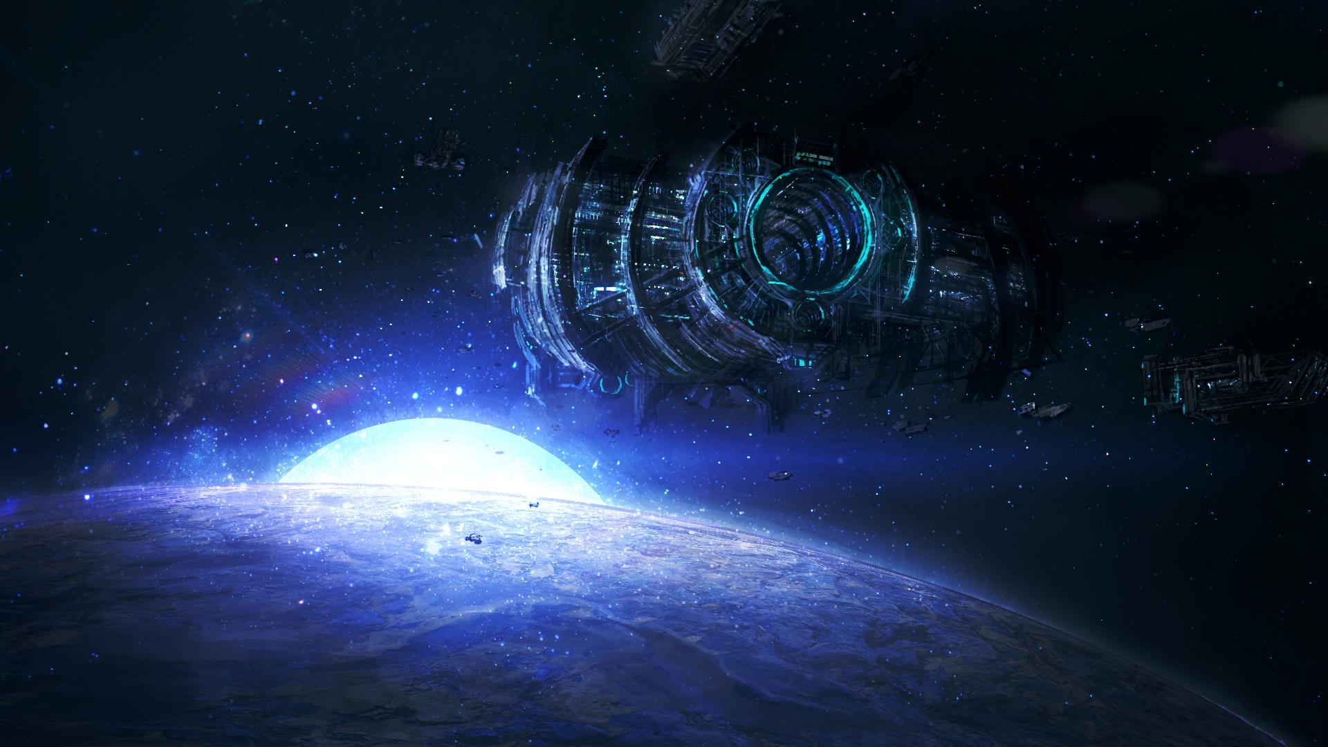 Обои космос планета корабль картинки на рабочий стол на тему Космос - скачать  № 3125484 загрузить