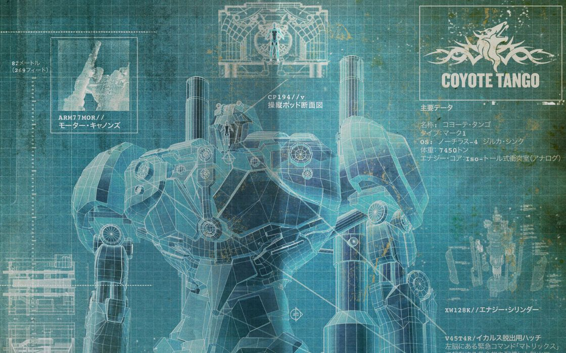 Pacific Rim Giant Robot Blueprint Schematic mecha wallpaper