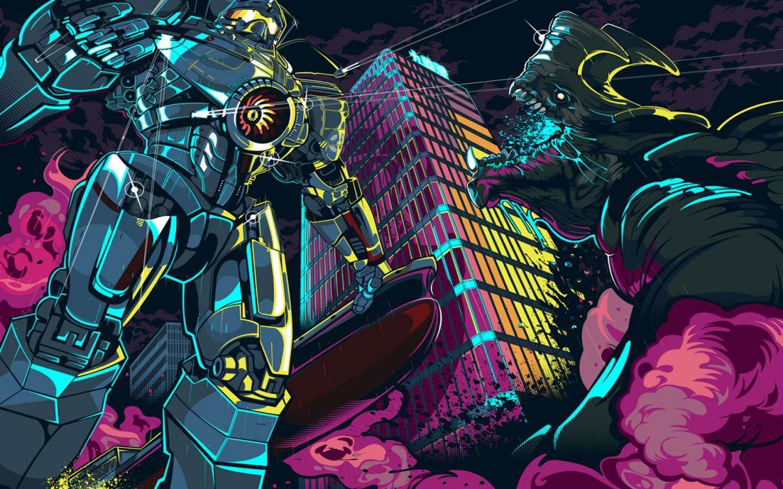 Pacific Rim Giant Robot Monster mecha wallpaper