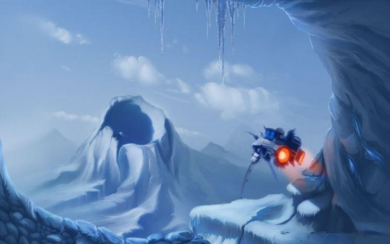 paintings snow futuristic hoth drawings vessel sci-fi star wars wallpaper