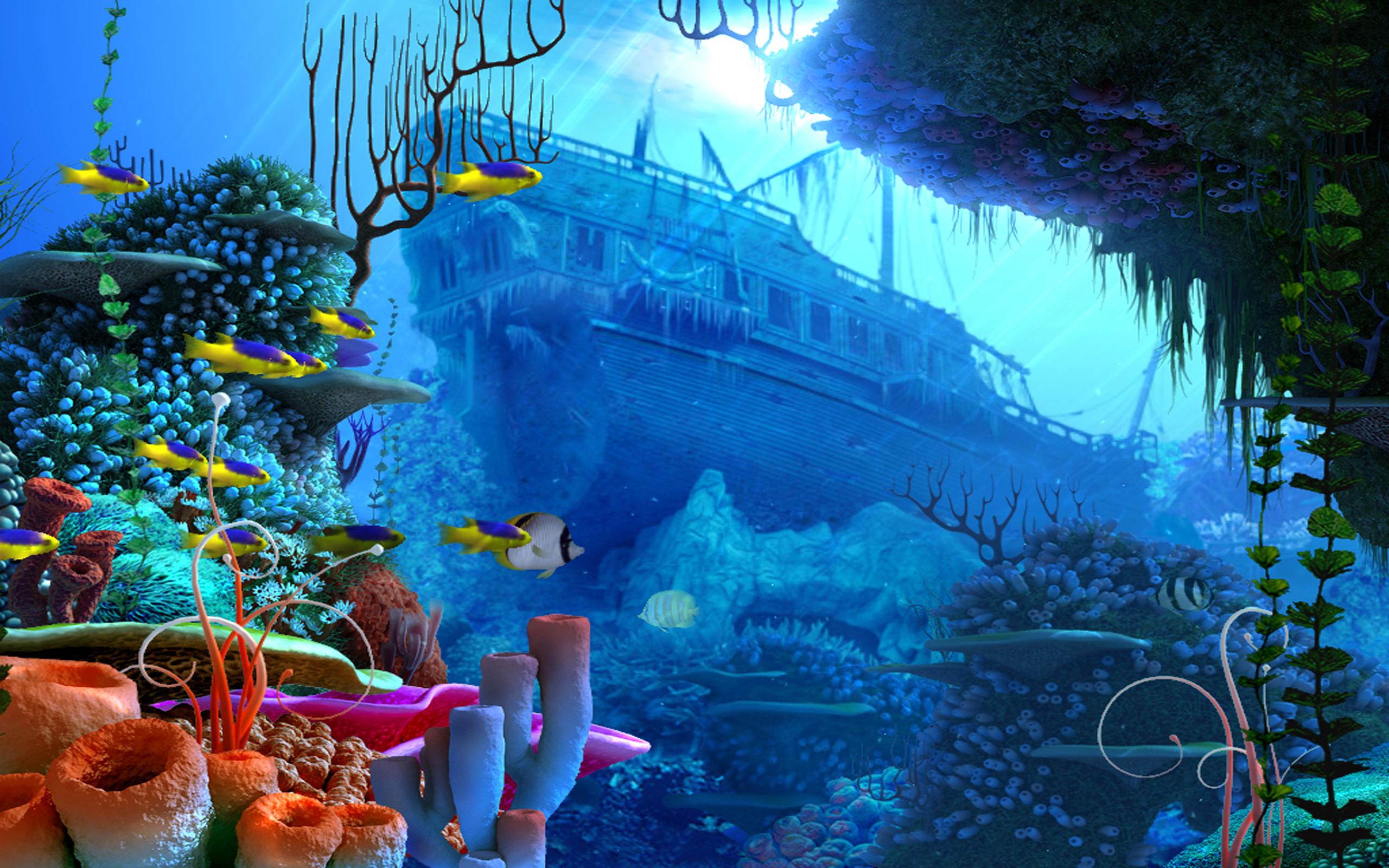Pirates Pirate Fantasy Ship Fish Ocean Underwater