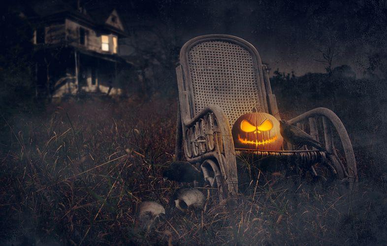 rooks house pumpkin holiday halloween skulls dark skull wallpaper
