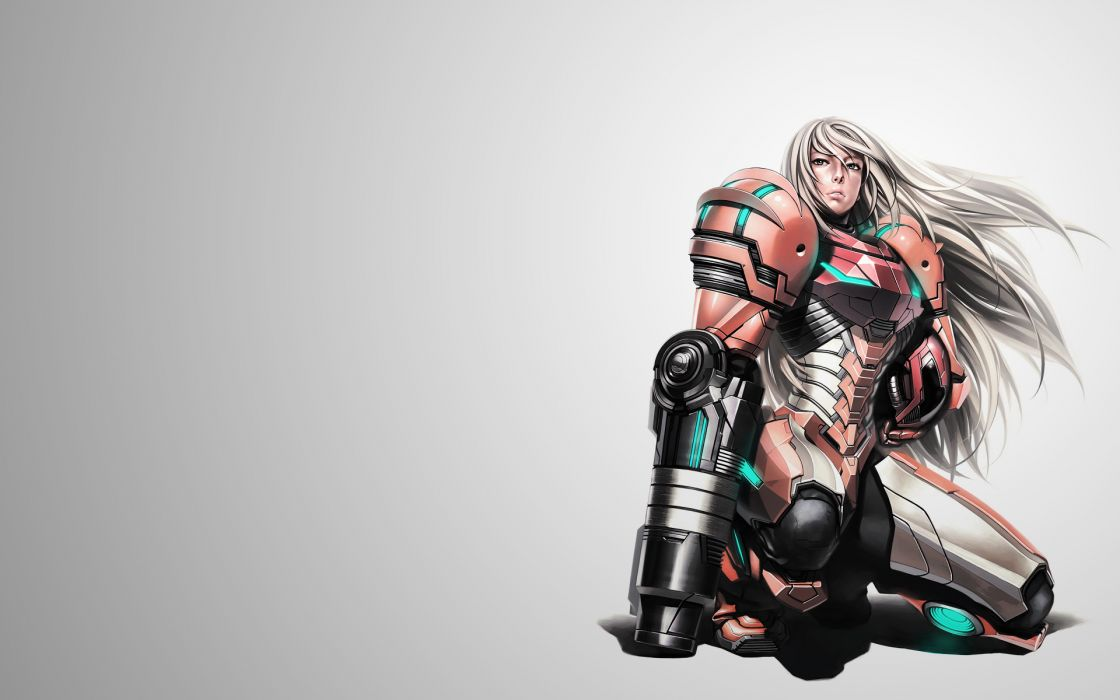 samus aran metroid prime plugsuit armor girl sci-fi wallpaper