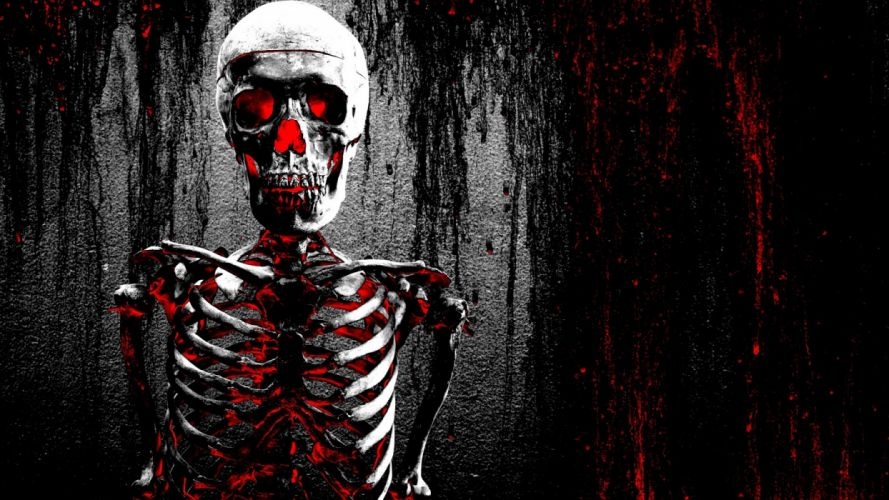 skeleton skeletons dark skulls skull glow wallpaper