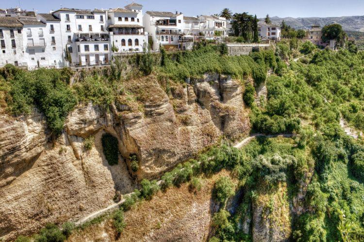 Spain mountains break building path wallpaper