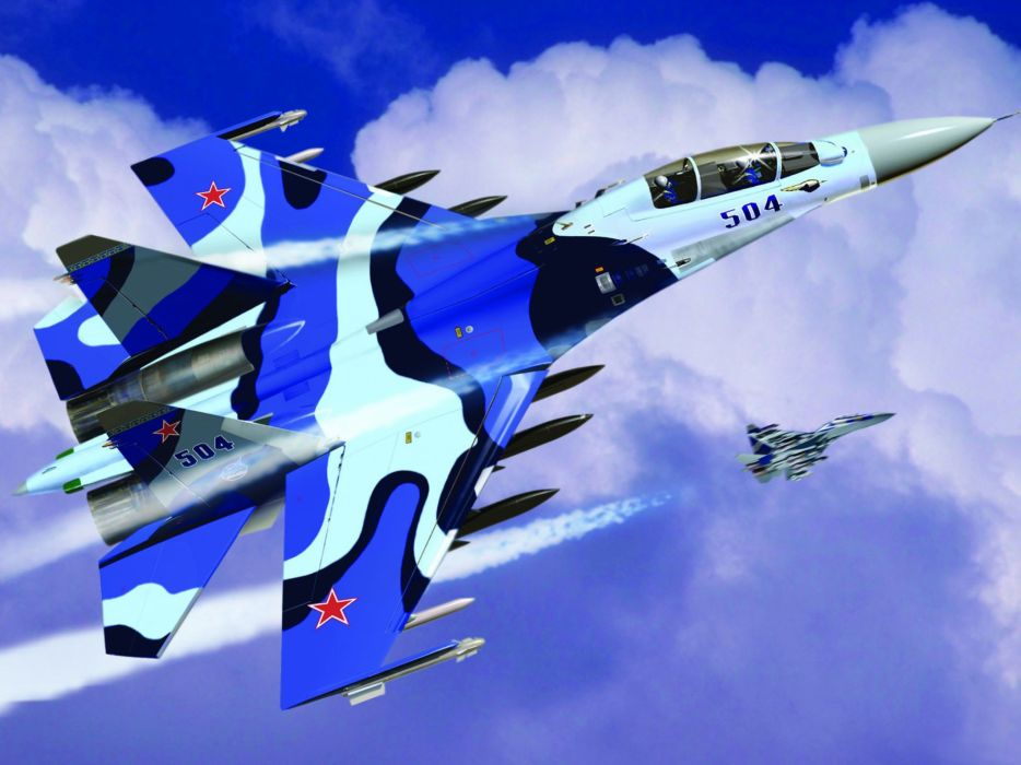 Su-30MK russian soviet jet jets military wallpaper