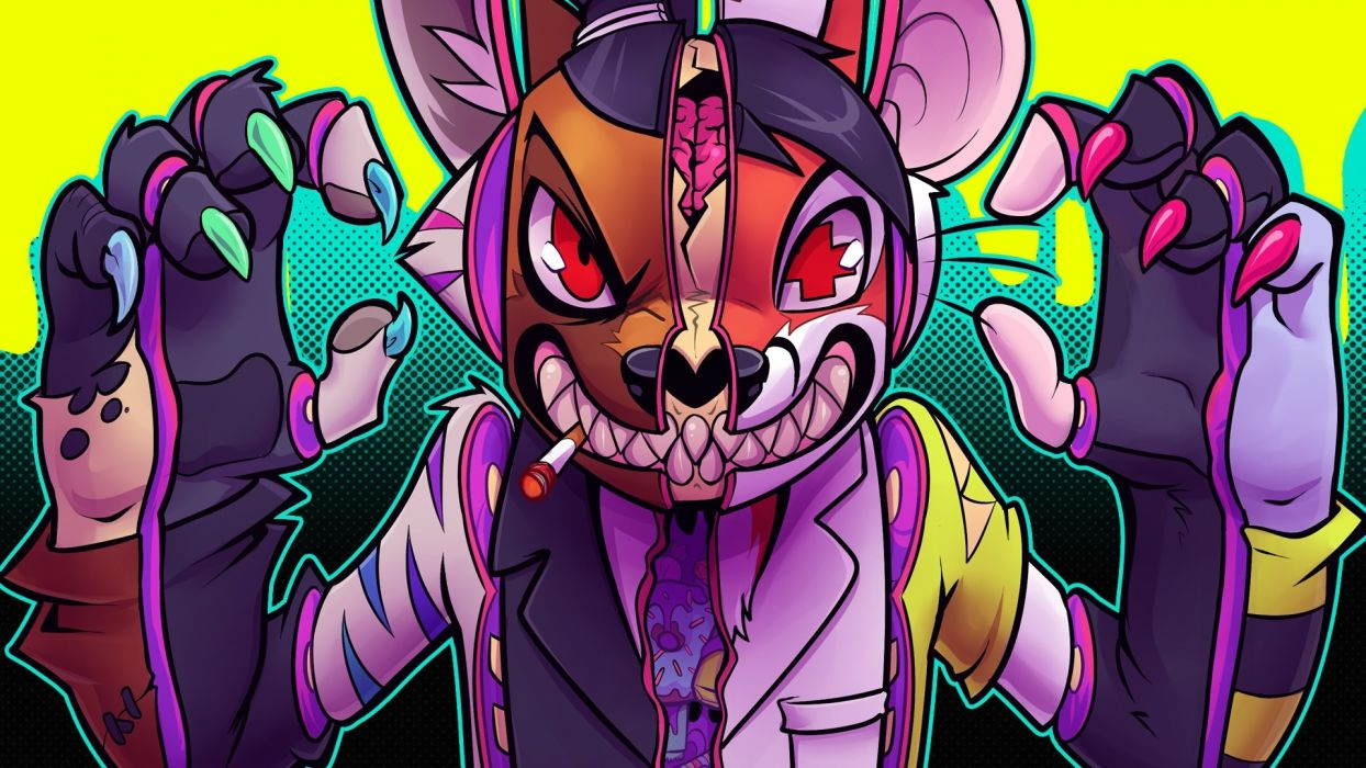 teeth cigarette grin lapfox trax dark skull skulls psychedelic wallpaper