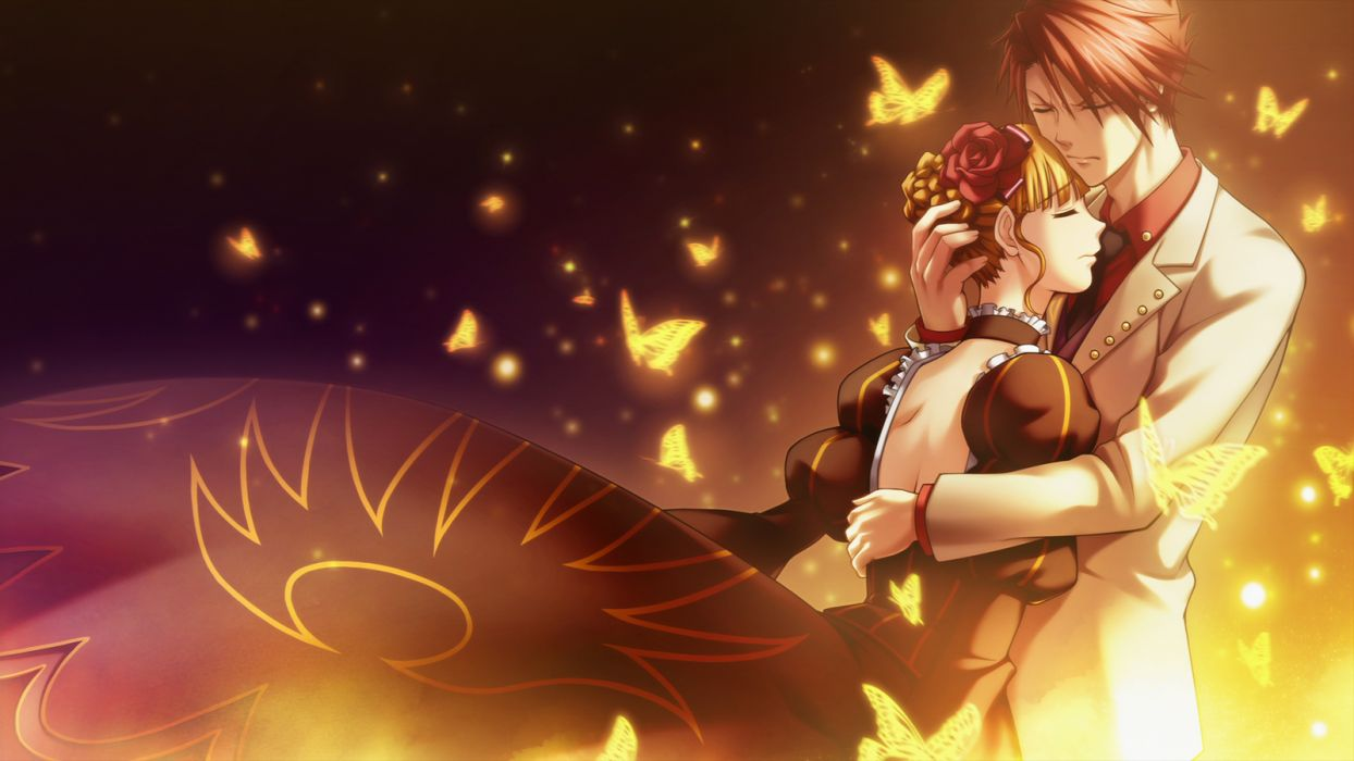 umineko no naku koro ni beatrice ushiromiya battler love mood butterfly magical wallpaper