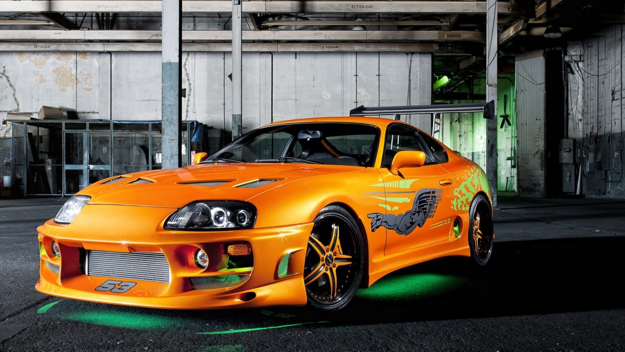 Vehicles Tuning Toyota Supra Green Neon The Fast And The Furious Orange Cars Wallpaper